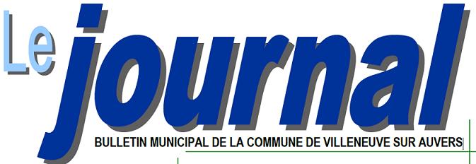 le journal bulletin municipal de la commune de Villeneuve sur Auvers